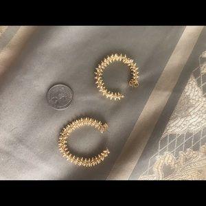 Jcrew beaded gold earrings(can change shape!)